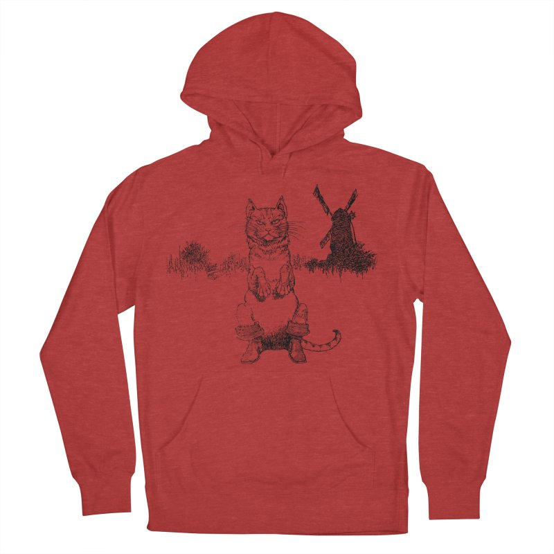 Puss in Boots Men's French Terry Pullover Hoody by Green Grackle Studio