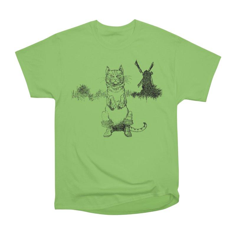 Puss in Boots Women's Heavyweight Unisex T-Shirt by Green Grackle Studio