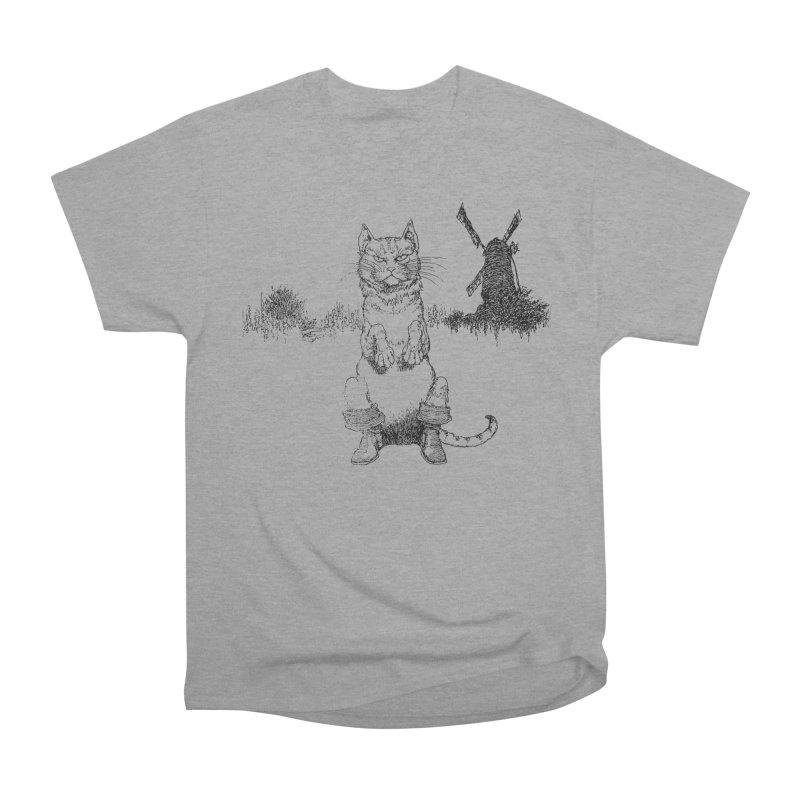 Puss in Boots Men's Heavyweight T-Shirt by Green Grackle Studio
