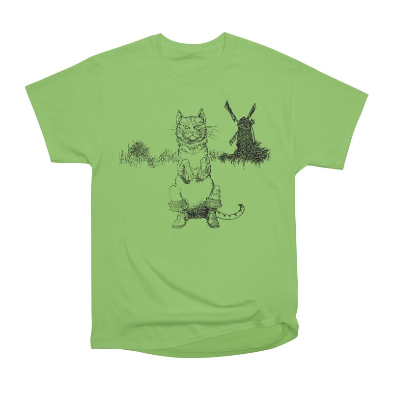 Puss in Boots Men's Heavyweight T-Shirt by Green Grackle Studio