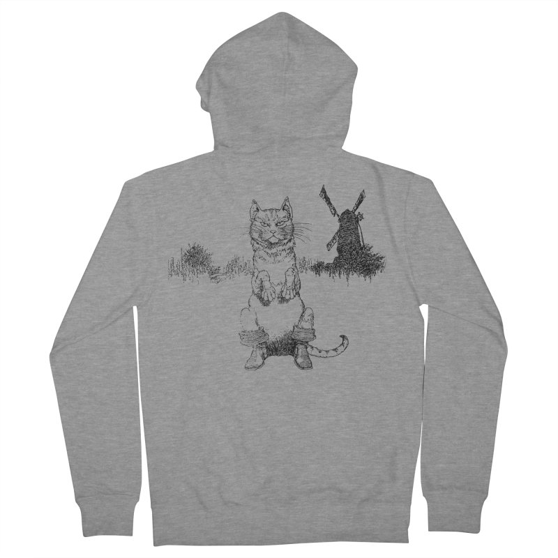Puss in Boots Women's French Terry Zip-Up Hoody by Green Grackle Studio