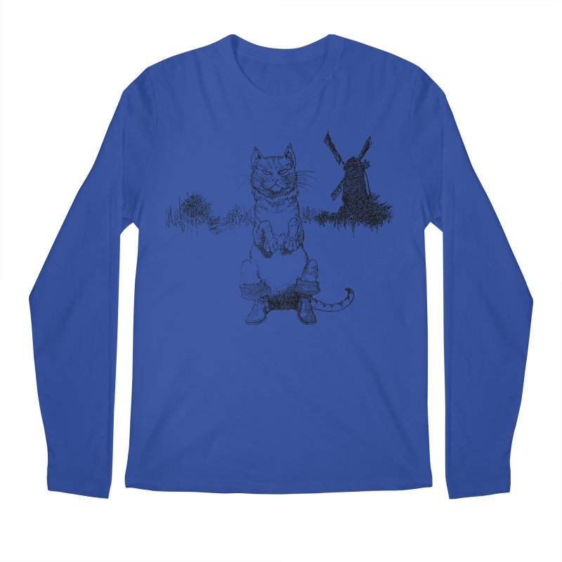 Puss in Boots Men's Regular Longsleeve T-Shirt by Green Grackle Studio