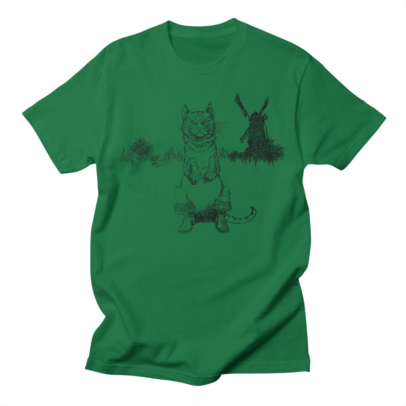 Puss in Boots Women's Regular Unisex T-Shirt by Green Grackle Studio