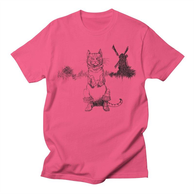 Puss in Boots Men's Regular T-Shirt by Green Grackle Studio
