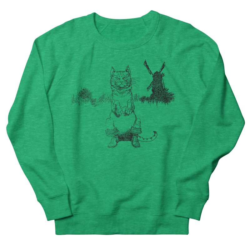 Puss in Boots Men's French Terry Sweatshirt by Green Grackle Studio