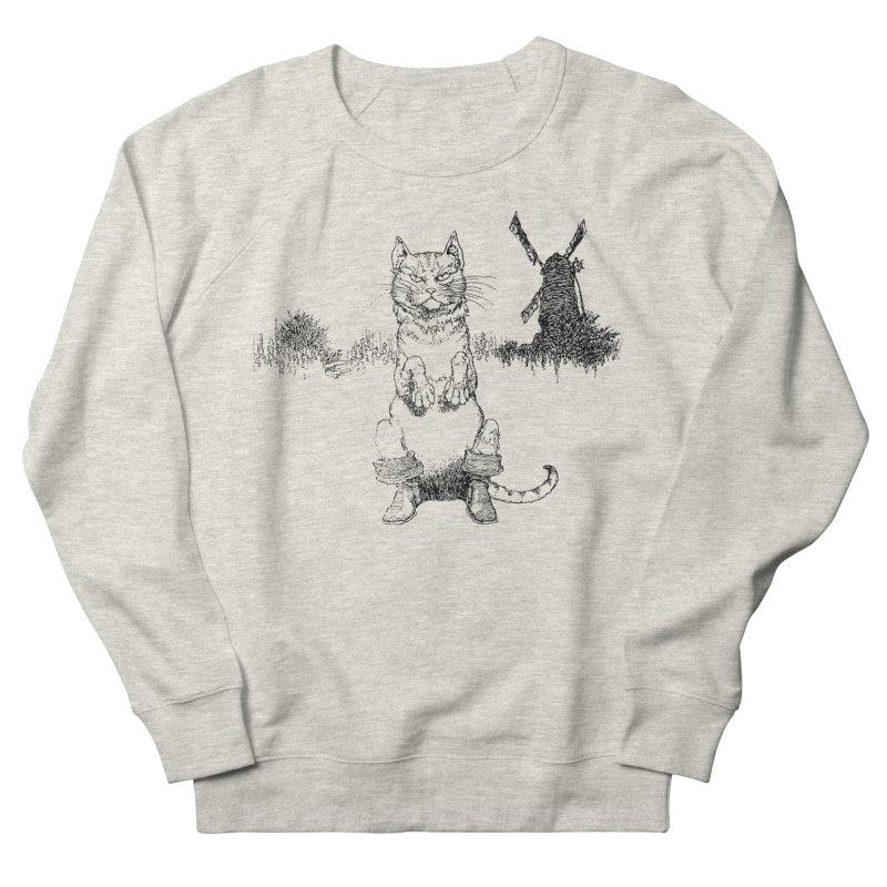 Puss in Boots Men's Sweatshirt by Green Grackle Studio