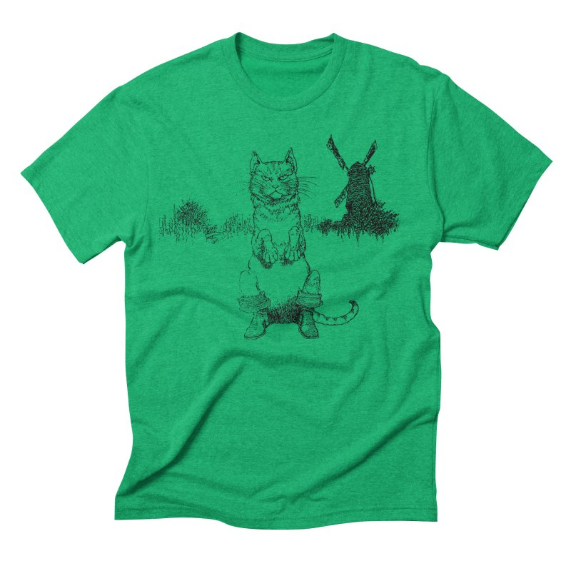 Puss in Boots Men's Triblend T-Shirt by Green Grackle Studio