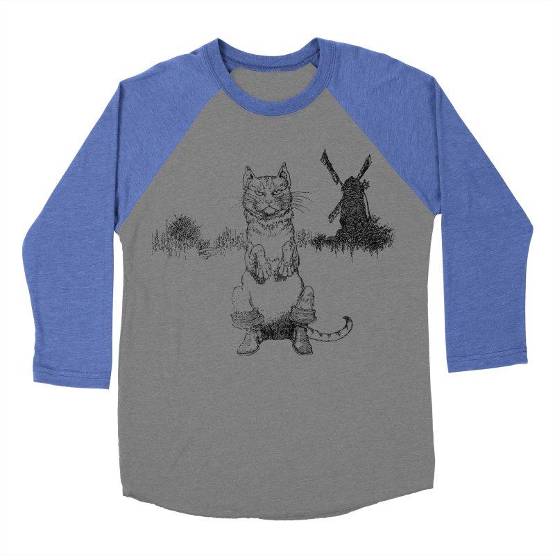 Puss in Boots Women's Baseball Triblend Longsleeve T-Shirt by Green Grackle Studio