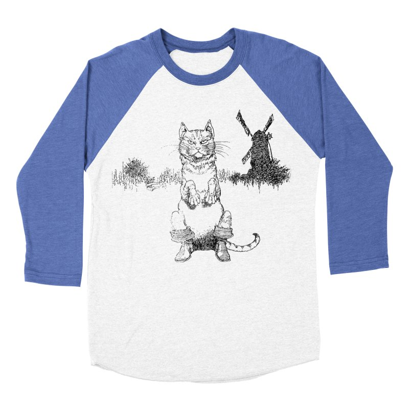 Puss in Boots Men's Baseball Triblend Longsleeve T-Shirt by Green Grackle Studio
