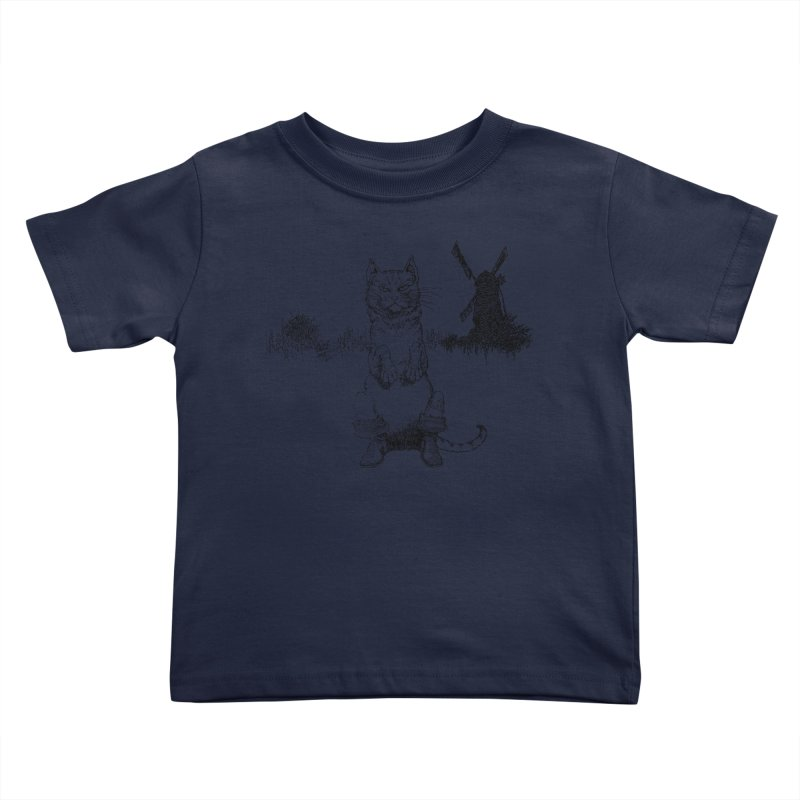 Puss in Boots Kids Toddler T-Shirt by Green Grackle Studio