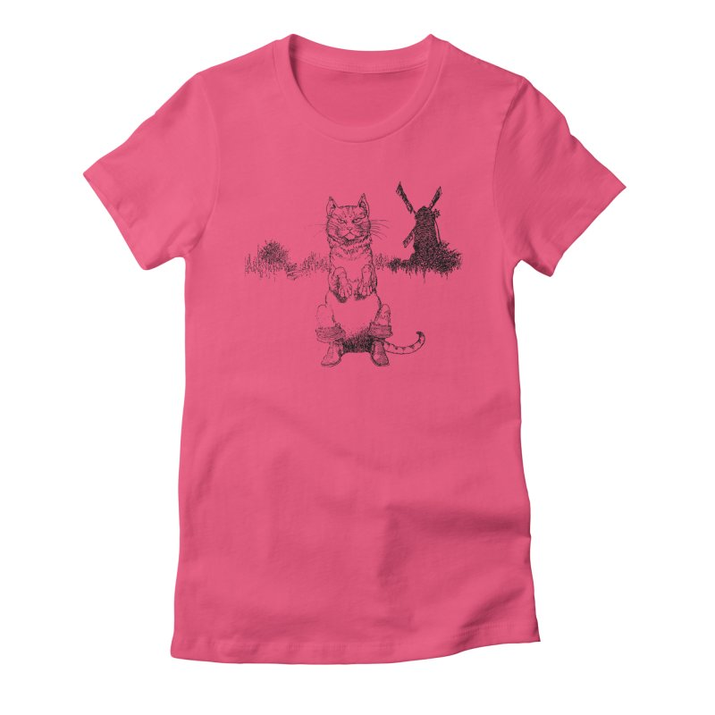 Puss in Boots Women's T-Shirt by Green Grackle Studio