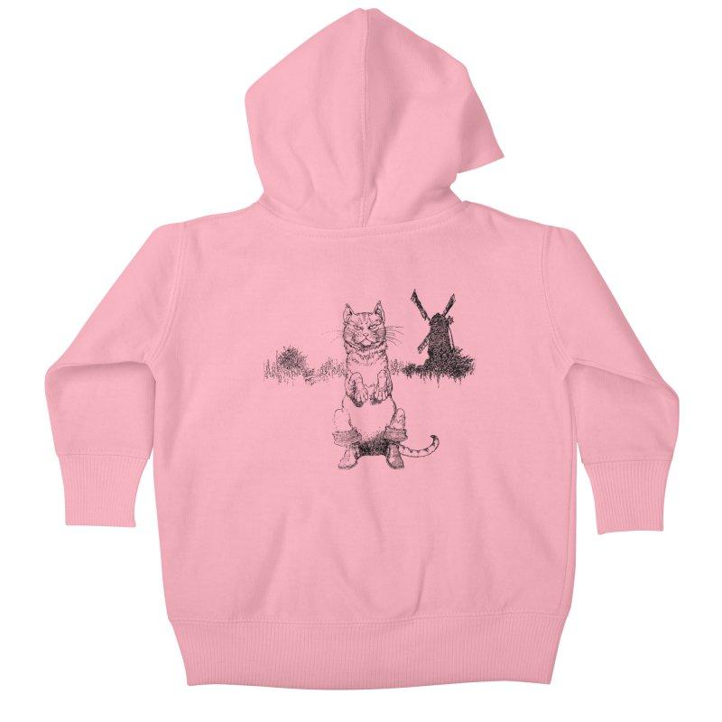 Puss in Boots Kids Baby Zip-Up Hoody by Green Grackle Studio