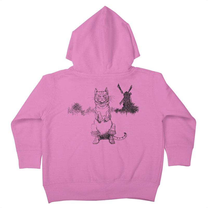 Puss in Boots Kids Toddler Zip-Up Hoody by Green Grackle Studio