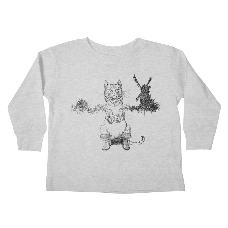 Puss in Boots Kids Toddler Longsleeve T-Shirt by Green Grackle Studio