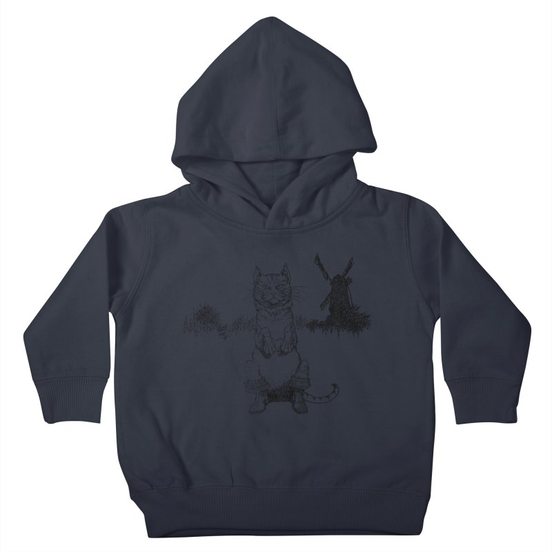 Puss in Boots Kids Toddler Pullover Hoody by Green Grackle Studio