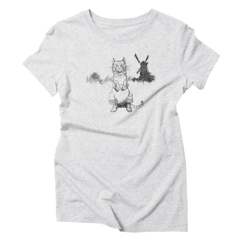 Puss in Boots Women's Triblend T-Shirt by Green Grackle Studio