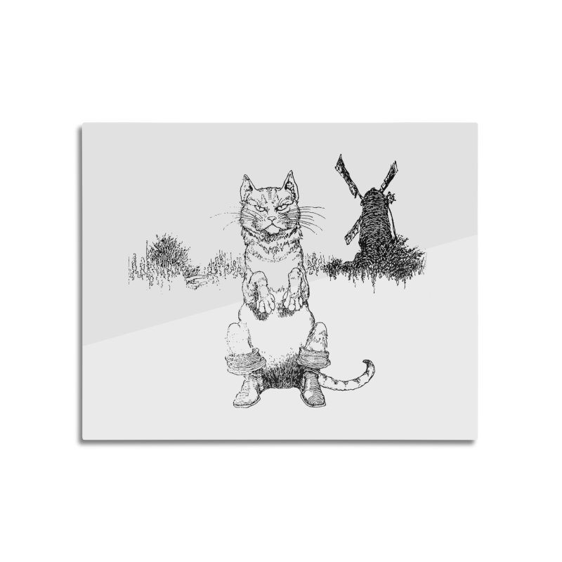 Puss in Boots Home Mounted Aluminum Print by Green Grackle Studio