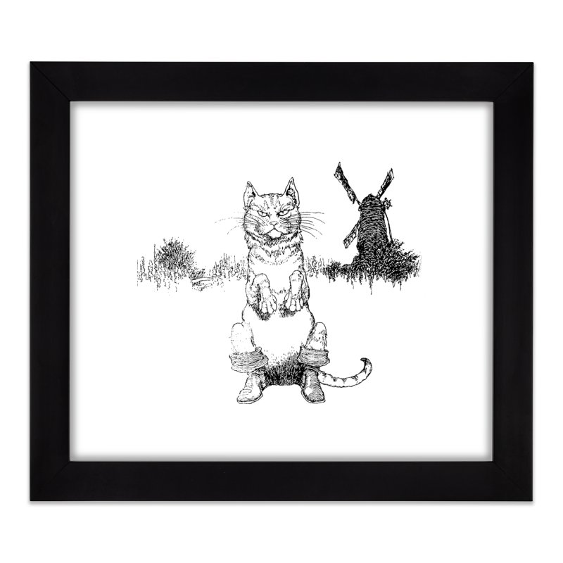 Puss in Boots Home Framed Fine Art Print by Green Grackle Studio