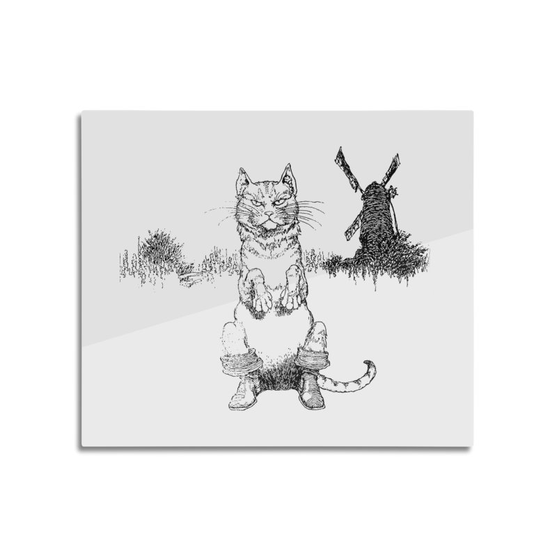 Puss in Boots Home Mounted Acrylic Print by Green Grackle Studio