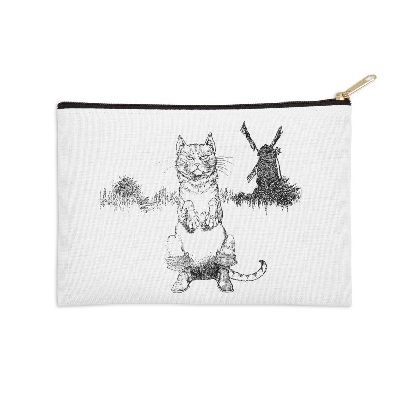 Puss in Boots Accessories Zip Pouch by Green Grackle Studio