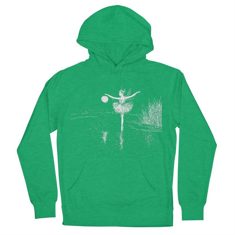 Anne Crosses the Dark Pool Women's French Terry Pullover Hoody by Green Grackle Studio