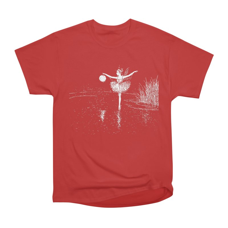 Anne Crosses the Dark Pool Men's Heavyweight T-Shirt by Green Grackle Studio