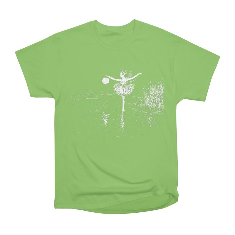 Anne Crosses the Dark Pool Women's Heavyweight Unisex T-Shirt by Green Grackle Studio