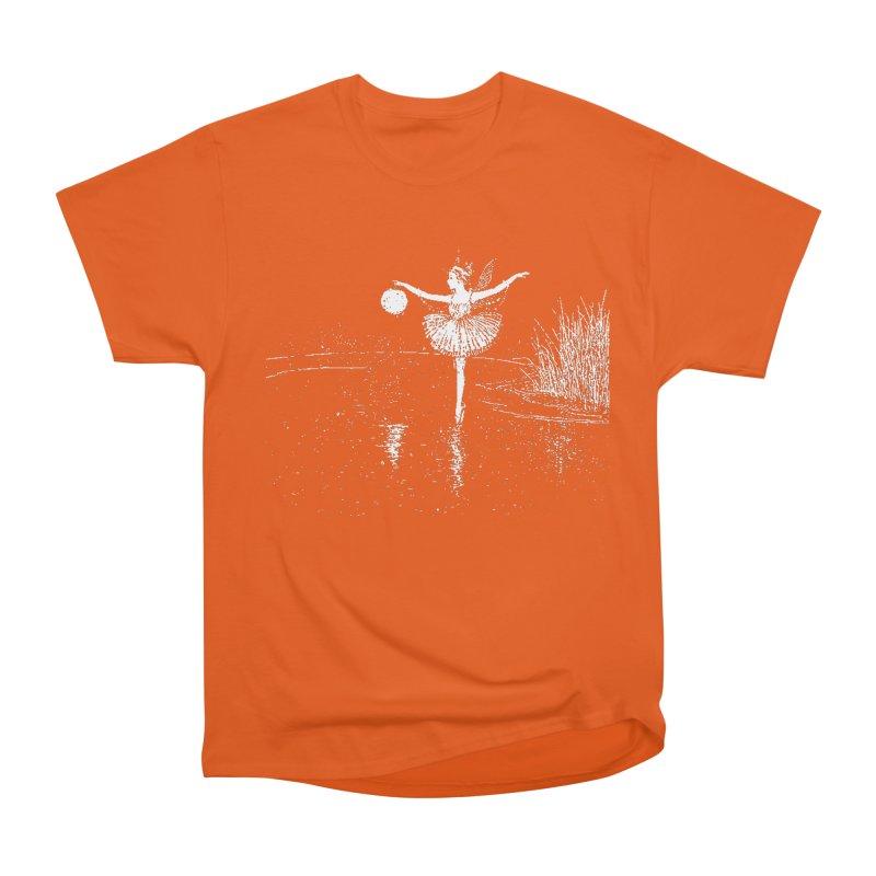 Anne Crosses the Dark Pool Women's Heavyweight Unisex T-Shirt by Green Grackle Studio