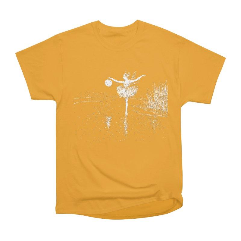 Anne Crosses the Dark Pool Men's Heavyweight T-Shirt by Green Grackle Studio