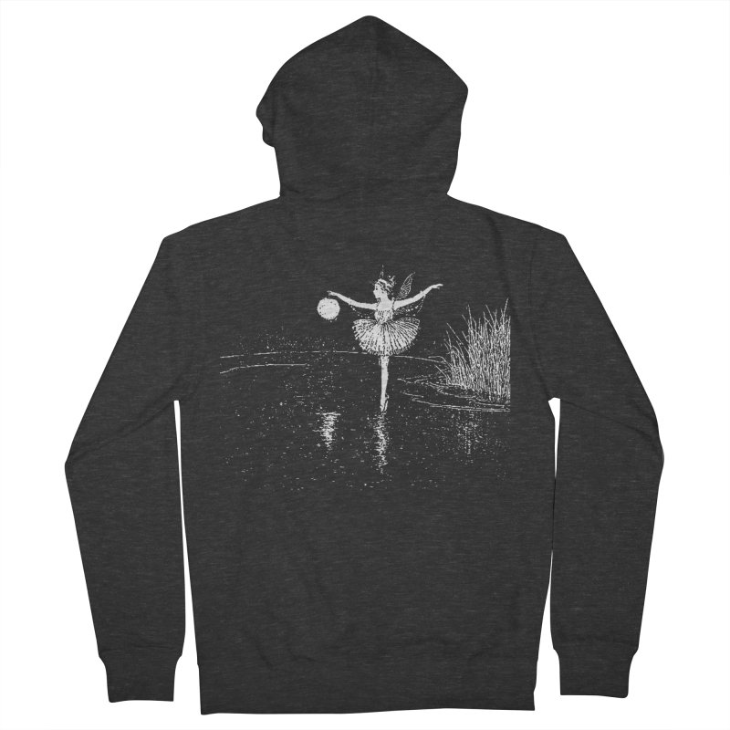Anne Crosses the Dark Pool Women's French Terry Zip-Up Hoody by Green Grackle Studio
