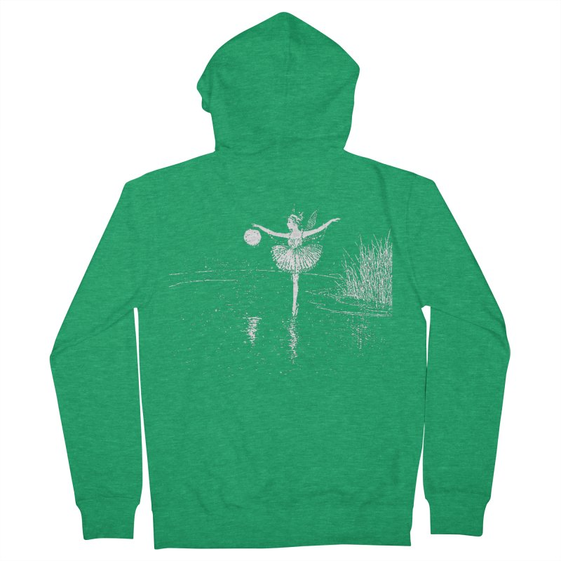 Anne Crosses the Dark Pool Men's Zip-Up Hoody by Green Grackle Studio