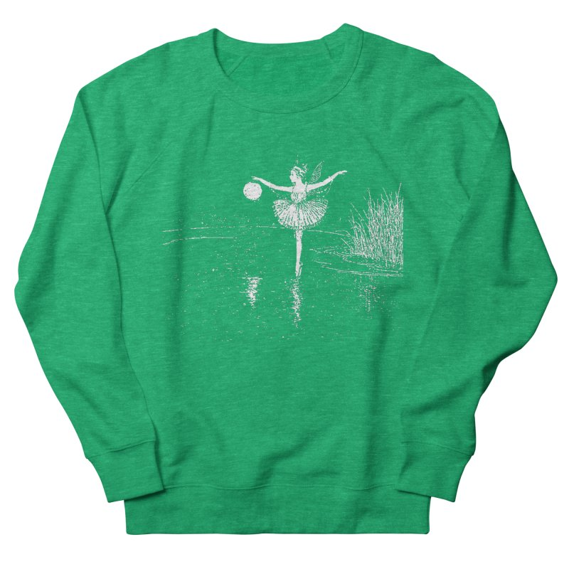 Anne Crosses the Dark Pool Women's Sweatshirt by Green Grackle Studio