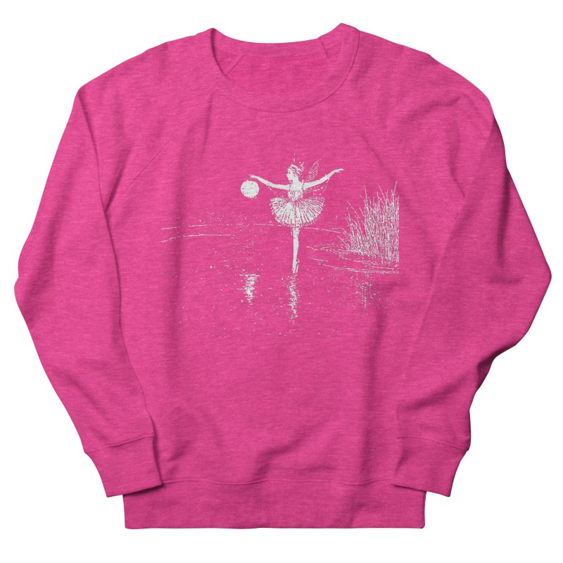 Anne Crosses the Dark Pool Men's French Terry Sweatshirt by Green Grackle Studio