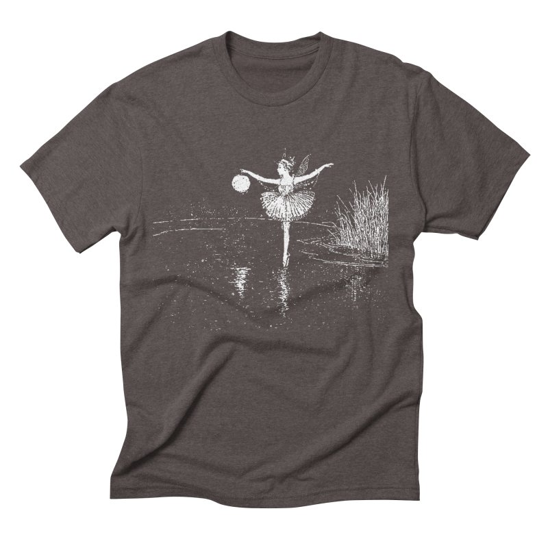 Anne Crosses the Dark Pool Men's Triblend T-Shirt by Green Grackle Studio