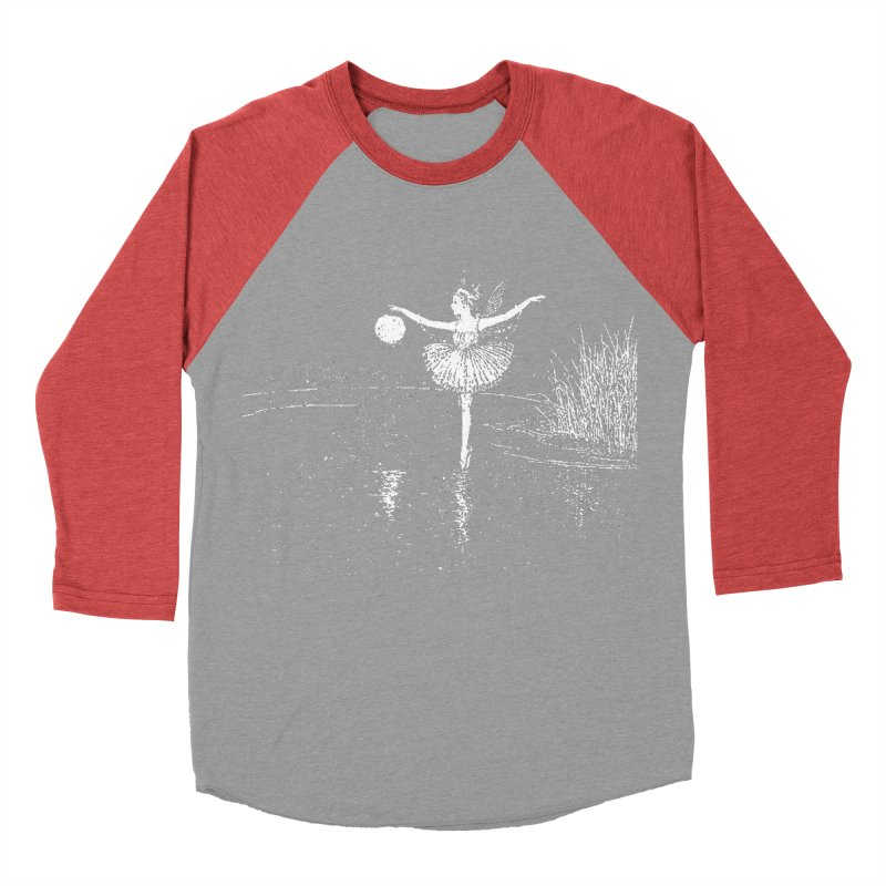 Anne Crosses the Dark Pool Men's Baseball Triblend Longsleeve T-Shirt by Green Grackle Studio
