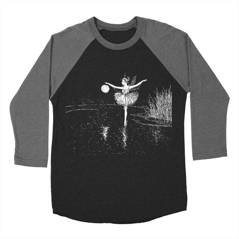 Anne Crosses the Dark Pool Men's Baseball Triblend Longsleeve T-Shirt by Green Grackle Studio