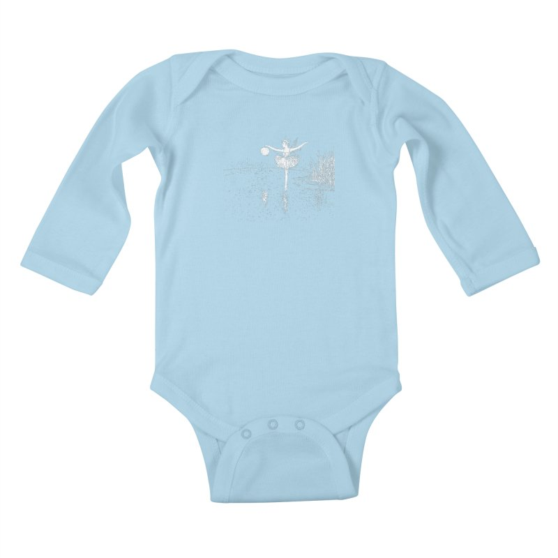 Anne Crosses the Dark Pool Kids Baby Longsleeve Bodysuit by Green Grackle Studio