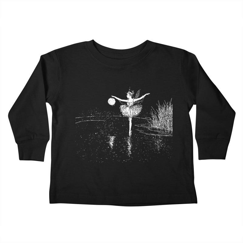 Anne Crosses the Dark Pool Kids Toddler Longsleeve T-Shirt by Green Grackle Studio