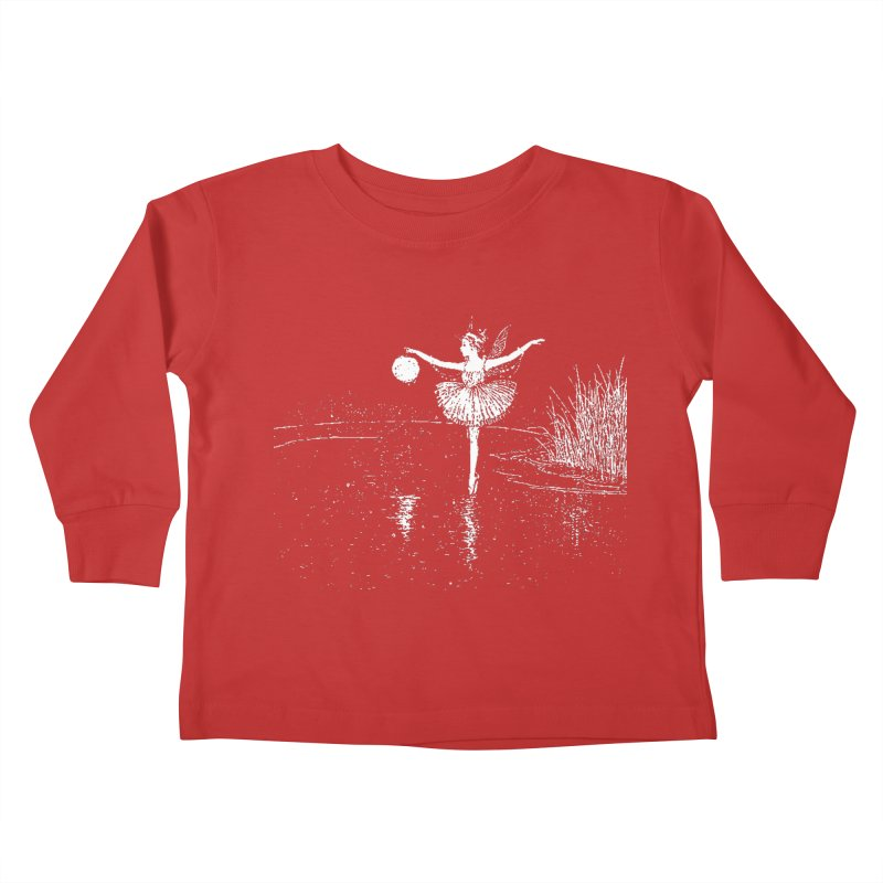 Anne Crosses the Dark Pool Kids Toddler Longsleeve T-Shirt by Green Grackle Studio