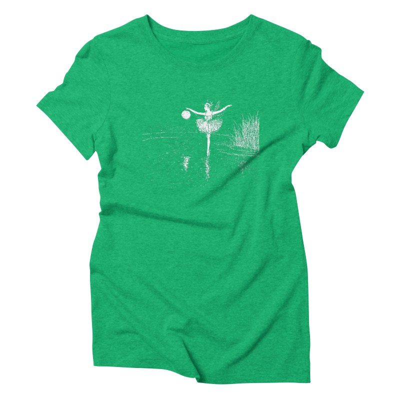 Anne Crosses the Dark Pool Women's Triblend T-Shirt by Green Grackle Studio
