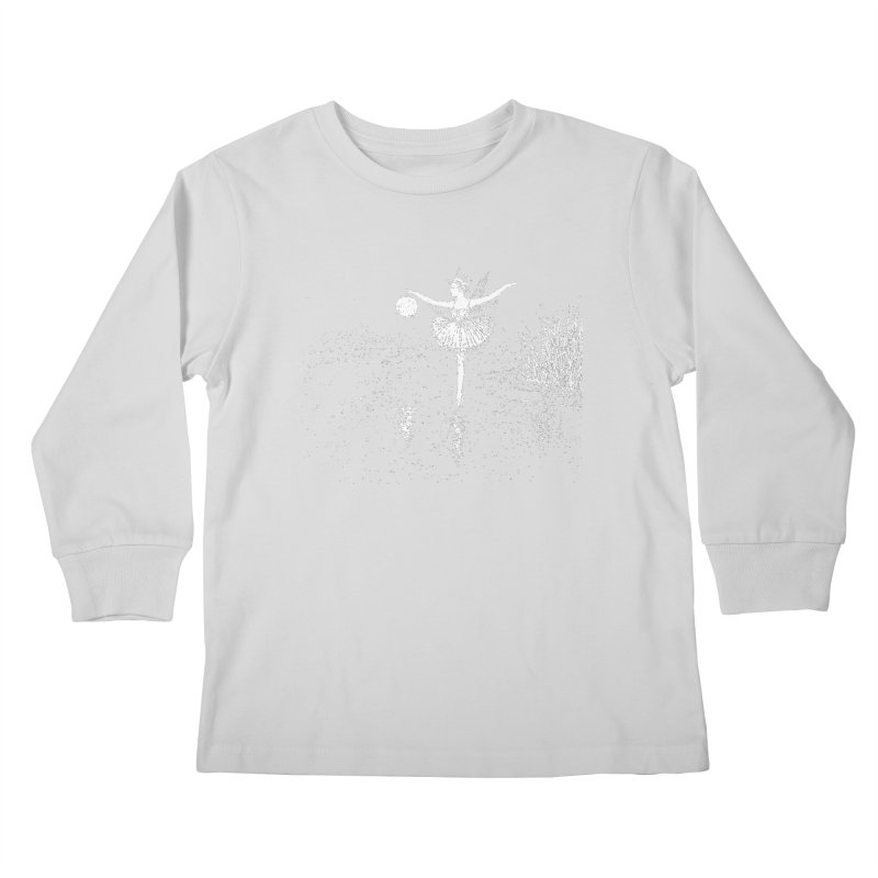 Anne Crosses the Dark Pool Kids Longsleeve T-Shirt by Green Grackle Studio