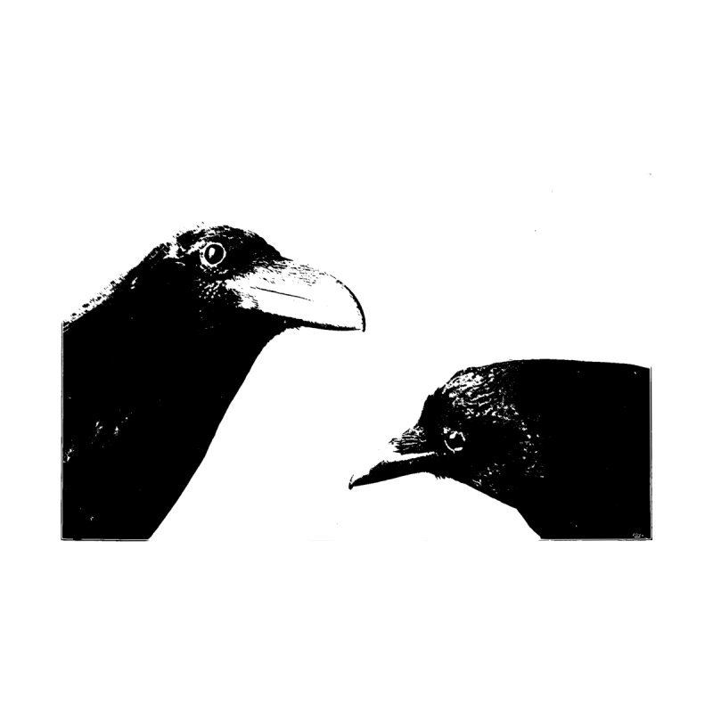 A Crow Conversation Kids T-Shirt by Green Grackle Studio
