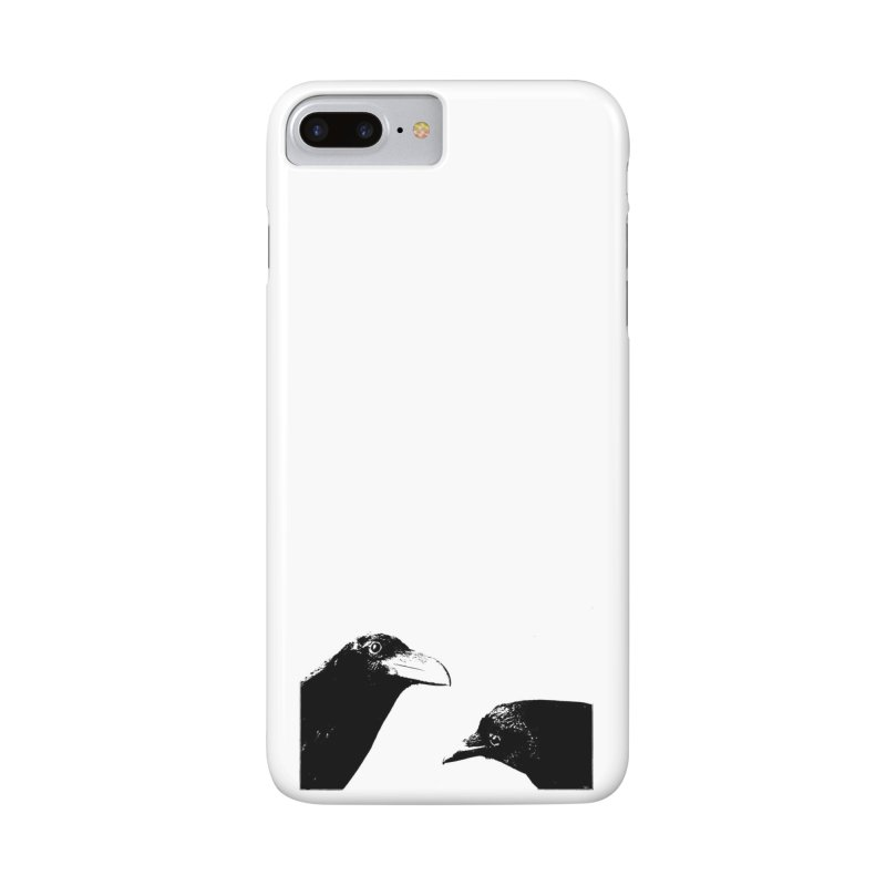 A Crow Conversation Accessories Phone Case by Green Grackle Studio