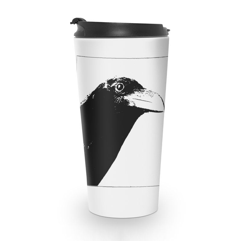 A Crow Conversation Accessories Travel Mug by Green Grackle Studio
