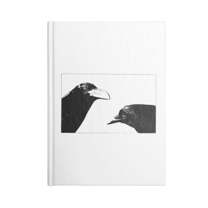 A Crow Conversation Accessories Blank Journal Notebook by Green Grackle Studio