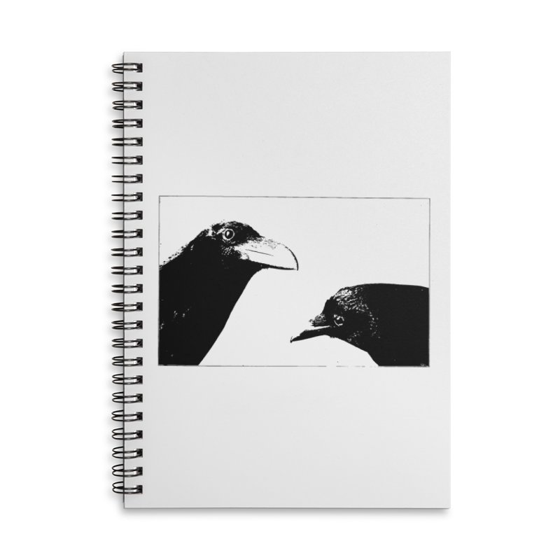 A Crow Conversation Accessories Lined Spiral Notebook by Green Grackle Studio