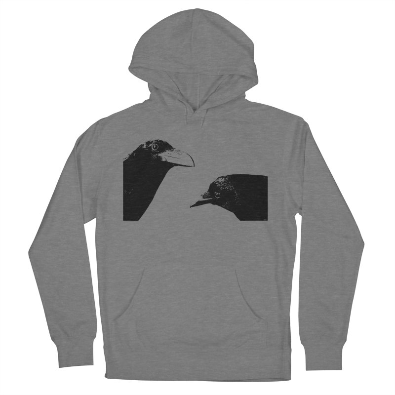 A Crow Conversation Women's French Terry Pullover Hoody by Green Grackle Studio