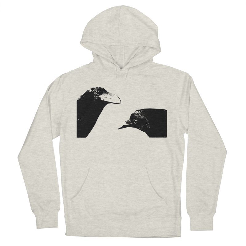 A Crow Conversation Men's French Terry Pullover Hoody by Green Grackle Studio