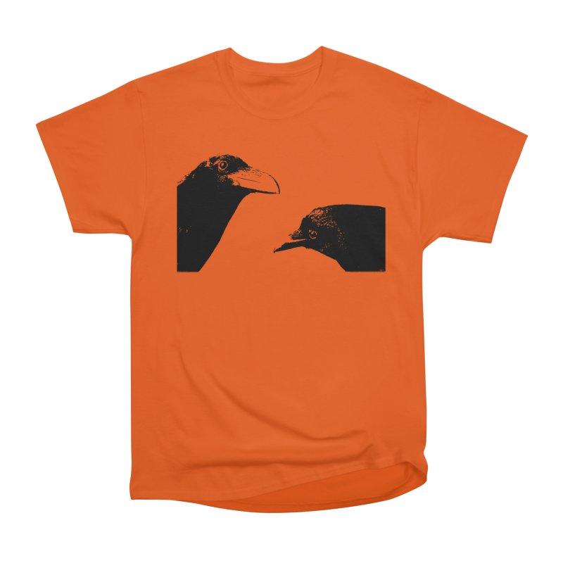 A Crow Conversation Men's Heavyweight T-Shirt by Green Grackle Studio