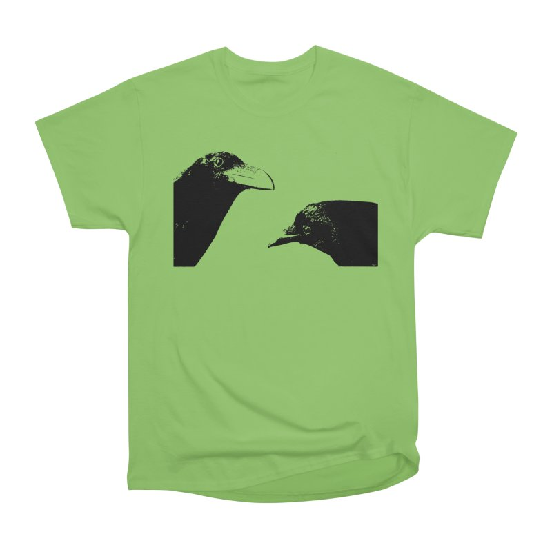 A Crow Conversation Women's Heavyweight Unisex T-Shirt by Green Grackle Studio